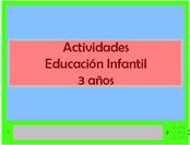 Actividades Educación Infantil 3 años