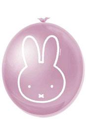 Ballonnen Nijntje roze 6 stuks € 2,25