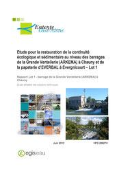 Etude pour la restauration de la continuité écologique et sédimentaire au... 2014