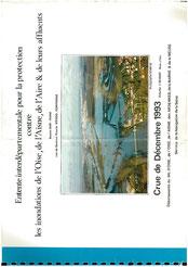 Crue de décembre 1993; bassin Oise Aisne, cartographie au 1:25.000