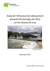 Etude de l'influence d'un abaissement préventif des barrages de l'Oise... 2011