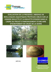 Evaluation de la présence / absence de mollusques aquatiques protégés... 2013
