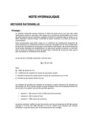 Note hydraulique