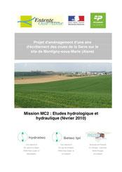 Etude hydrologique et hydraulique, 2010