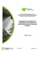 Evaluation de l'impact de la modification de la hauteur du seuil Pasteur dans... 2011