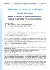 Décret 2005-116 sur les servitudes de surinondation