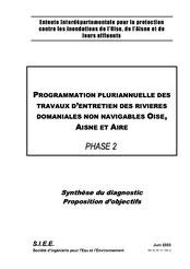 Phase 2, synthèse du diagnostic, propositions d'objectifs