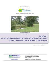 Expertise : impact de l'aménagement de l'aire d'écrêtement... 2015