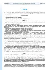 Loi 2017-1838 relative à l'exercice des compétences des collectivités dans le domaine de la GEMAPI