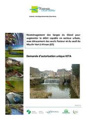 Réaménagement des berges du Gland pour augmenter le débit capable en... 2016