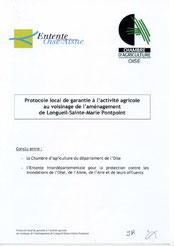 Protocole local de garantie à l'activité agricole, 2009