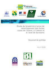 Etude de faisabilité d'aires de ralentissement des fortes crues de l'Aisne, ... 2006
