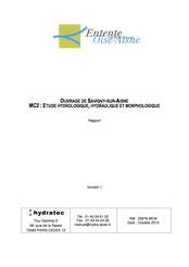 Etude hydraulique, hydrologique et morphologique