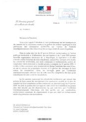 Courrier DGCL relatif au transfert des ouvrages