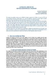 La crue de l'Oise en 1910. Jean-Yves BONNARD, 2011