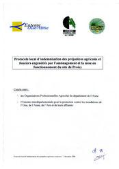 Protocole local d'indemnisation agricole de Proisy, 2006