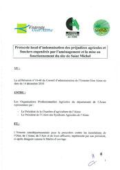 Protocole local d'indemnisation agricole de Saint-Michel, 2010