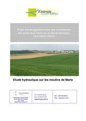 Etude hydraulique sur les moulins de Marle, 2013
