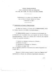 Procès-verbal d'installation de l'Entente Oise Aisne, 25 septembre 1968
