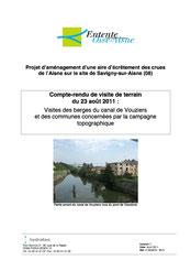 Visites des berges du canal de Vouziers et des communes... 2011