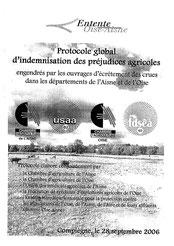 Protocole global d'indemnisation, préjudices agricoles Oise & Aisne, 2006