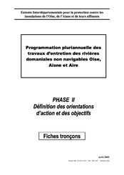 Phase 2, fiches tronçons