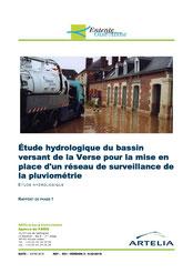 Etude hydrologique du bassin versant de la Verse pour la mise en place... 2016