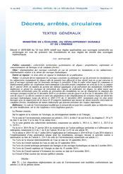Décret 2015-526 relatif aux règles applicables aux ouvrages construits ou aménagés en vue de...