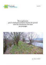 Note exploratoire pour la réutilisation d'anciens bassins de sucreries... 2013