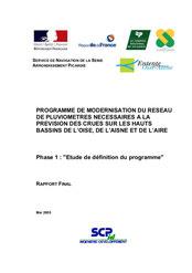Programme de modernisation du réseau de pluviomètres nécessaires à la... 2005