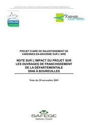 Note sur l'impact du projet sur les ouvrages de franchissement de... 2009