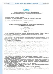 Loi MAPTAM du 27 janvier 2014