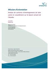 Mission d'orientation, analyse des scénarios d'aménagements de... 2011