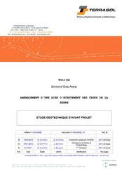 Etude géotechnique d'avant-projet, 2013