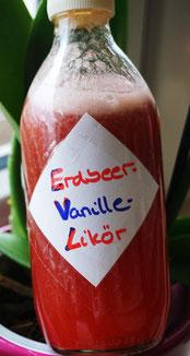 Erdbeer-Vanille-Likör
