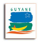 STICKER PLAQUES REGION DEPARTEMENT  GUYANE