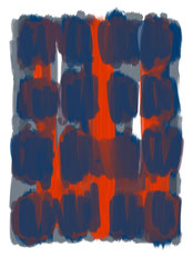"""blue and orange curtain"" 27.03.2021 17:14"