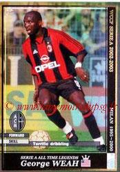 N° ATLE10 - George WEAH (1992-95, PSG > 1995-00, Milan AC, §ITA)