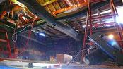 天井 煤竹張り工程