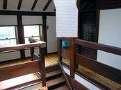 階段室天井トップライトからの採光