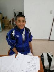 部活前のひと勉強。部活に行く前だって、工夫次第で勉強時間が作りだせるのです。
