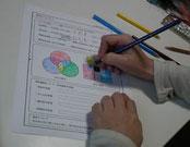 色彩の基礎理論の授業風景の画像