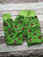 Hose Gr. 134 140 Schmetterling Schmetterlinge Tiere handgemacht Handarbeit handmade SaSch Selbstgefertigtes aus Schwaben