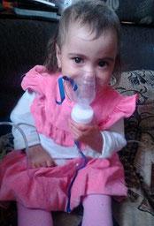 Lisa Boyarinkova, drei Jahre alt, Jalutorowsk, Oblast Tjumen, Russland