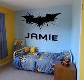 "Wall Decor image showing a Batman logo and ""Jamie"" underneath."