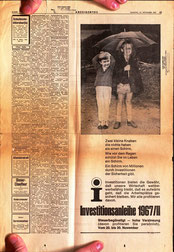 Matthias Traimer und Michael Traimer - Werbung für die österreichische Investitionsanleihe 1966/67.