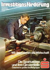 Michael Traimer. Plakat für die Sparkasse und Girozentrale um 1972. Investitionsförderung - wir fördern die Wirtschaft.
