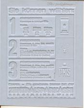 Sie können wählen: 1, 2, 3. Sparkassenbuch, Familiensparen, Prämien-Kontensparen. Sparen - Sie gewinnen immer bei der Zentralsparkasse. Zentralsparkasse Traimer 1962 (um) Klischee