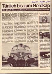 U-Bahn-Bau Wien. Finanzierung durch die Znetralsparkasse der Gemeinde Wien. Inserat von 1972.