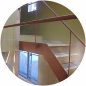 室内スチール階段手摺